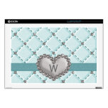 Monogrammed Faux Rhinestone Quilted 17 In Laptop S Laptop Skin