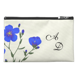 Monogrammed Flax Wildflower Bagette Travel Accessories Bags