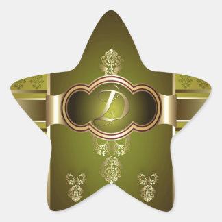 Monogrammed Flemish D Star Sticker