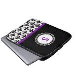 Monogrammed Fleur de Lis Laptop Sleeve - 13 inch