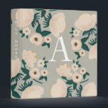 """Monogrammed Flower Binder - Green Mint White Cream<br><div class=""""desc"""">Hand drawn artwork by Morgan Harper Nichols. This binder is great for recipes,  wedding planning,  Her Binder Project,  college,  and more!</div>"""