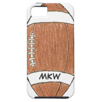 Monogrammed football theme iPhone case