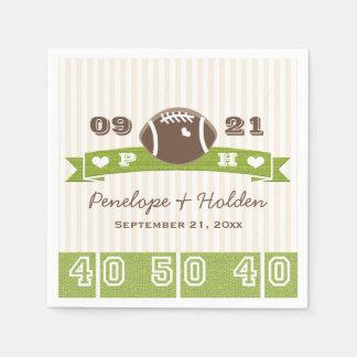 Monogrammed Football Wedding Napkin