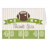 MONOGRAMMED FOOTBALL WEDDING THANK YOU STATIONERY NOTE CARD