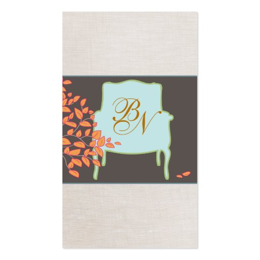 Monogrammed French Chair Business Card