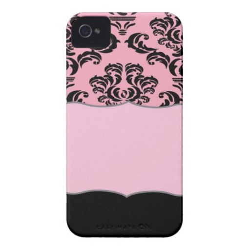 Monogrammed French Damask Romantic Pattern iPhone 4 Cases
