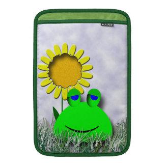 Monogrammed Frog and Sunflower MacBook Air Sleeves