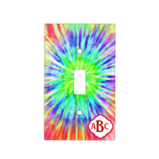 Monogrammed Funky Tie Dyed Switch Plate Light Switch Covers