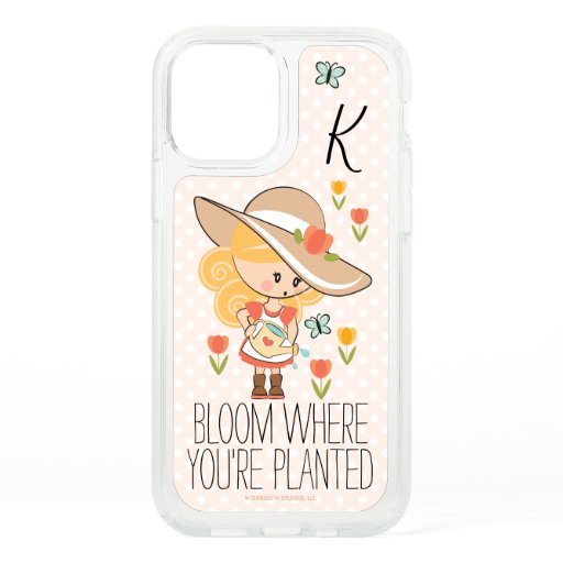 Monogrammed Gardening Girl Blonde Speck iPhone 12 Pro Case