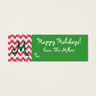 Monogrammed Gift Tag with Chevron