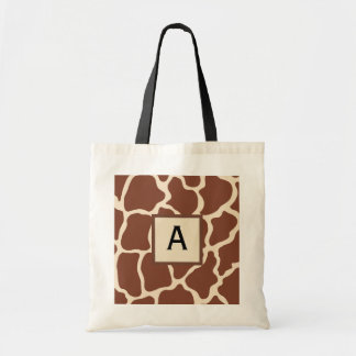 Monogrammed Giraffe Tote Bag