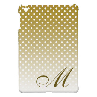 Monogrammed Gold Dot Design iPad Mini Cover