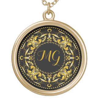 Monogrammed Gold Medallion 2 - Gold Necklace