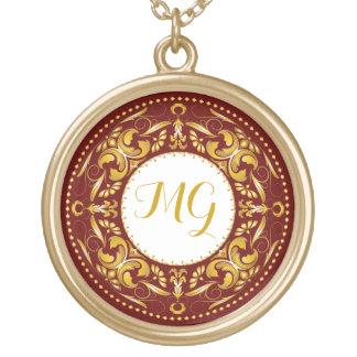 Monogrammed Gold Medallion 3 - Necklace