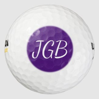 Monogrammed Golf Ball Choose Your Color Background