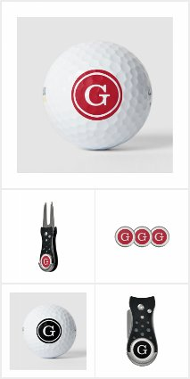 Monogrammed Golf Balls and Accessories