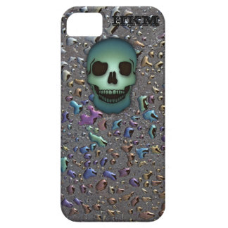 Monogrammed Green Skull, Oily LOOK iPhone 5S Case iPhone 5 Cover