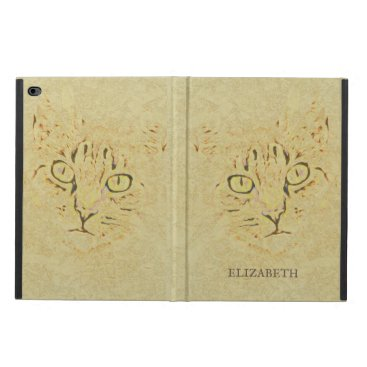 Monogrammed Hand Drawing Cat Powis iPad Air 2 Case