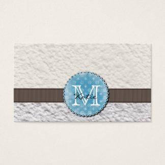 Monogrammed Handmade Paper Business Card
