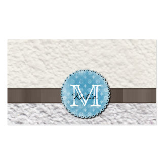 Monogrammed Handmade Paper Double-Sided Standard Business Cards (Pack Of 100)
