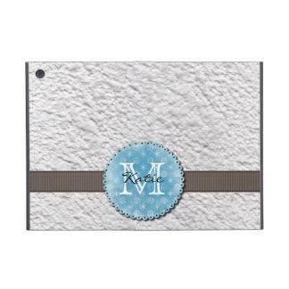 Monogrammed Handmade Paper iPad Mini Case