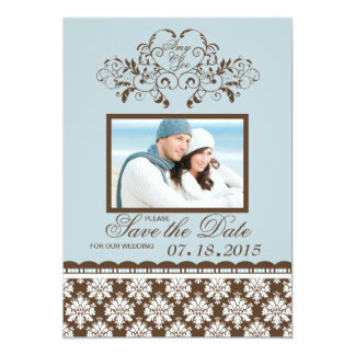 Monogrammed Heart - Photo Save the Date Announceme Card