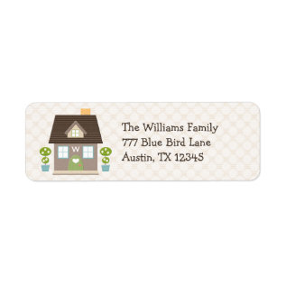 Monogrammed House Return Address Labels at Zazzle