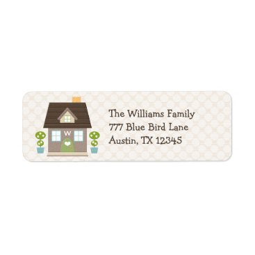 OccasionInvitations Monogrammed House Return Address Labels