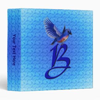 Monogrammed Initial B Bluebird Binder