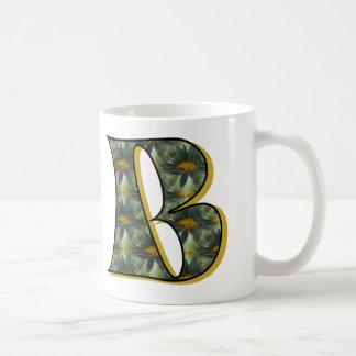 Monogrammed Initial B Daisies Mug