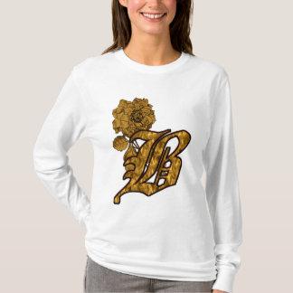 Monogrammed Initial B Gold Peony Hoody