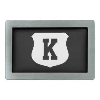 Monogrammed initial belt buckle for him or her