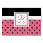 Monogrammed initial notecard cards