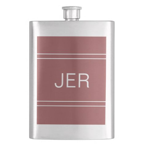 Monogrammed Initials Personalized Drink Trendy Red Flask