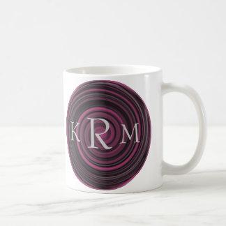 Monogrammed Initials Plum Swirls Mug