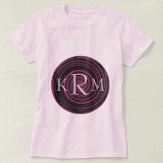 Monogrammed Initials Plum Swirls T Shirt