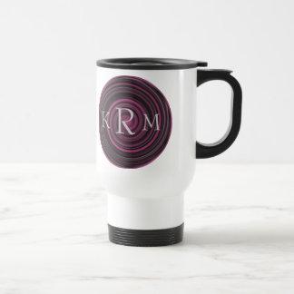 Monogrammed Initials Plum Swirls Travel Mug