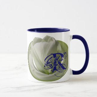 Monogrammed Initials Tulip Floral Mug