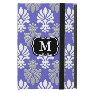 Monogrammed iPad Mini Case|Elegant Damask Pattern Covers For iPad Mini
