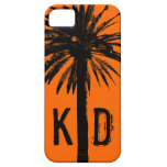 Monogrammed iPhone case with palm tree design iPhone 5 Case