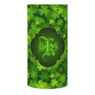 Monogrammed Irish Shamrocks Home Decor
