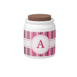 Monogrammed Jar Candy Dish