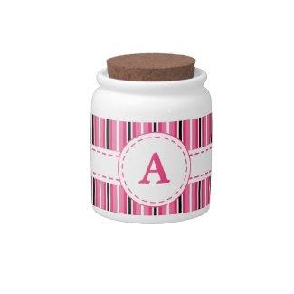 Monogrammed Jar Candy Dish