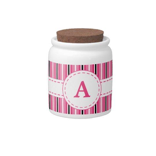 Monogrammed Jar Candy Jar