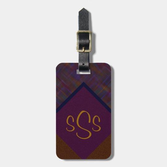 Monogrammed Jewel Tone Bag Tag