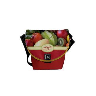 Monogrammed Juicy Natural Delicious Fresh Fruits Messenger Bag