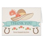 MONOGRAMMED KENTUCKY DERBY THEMED THANK YOU STATIONERY NOTE CARD