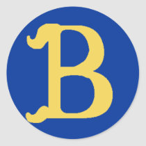 Monogrammed Large Stickers with the Letter B