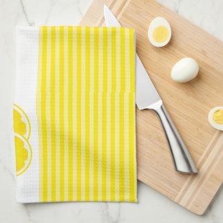 Monogrammed Lemons for Lemonade Kitchen Towels