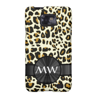 Monogrammed leopard print samsung galaxy s2 covers